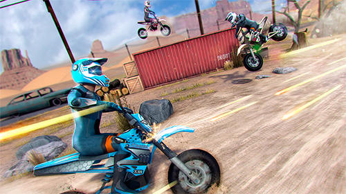 Realistic bike 3D: Scooter race für Android spielen. Spiel Realistisches Bike 3D: Scooter Rennen kostenloser Download.