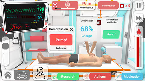 Screenshots von Reanimation inc: Realistic medical simulator für Android-Tablet, Smartphone.