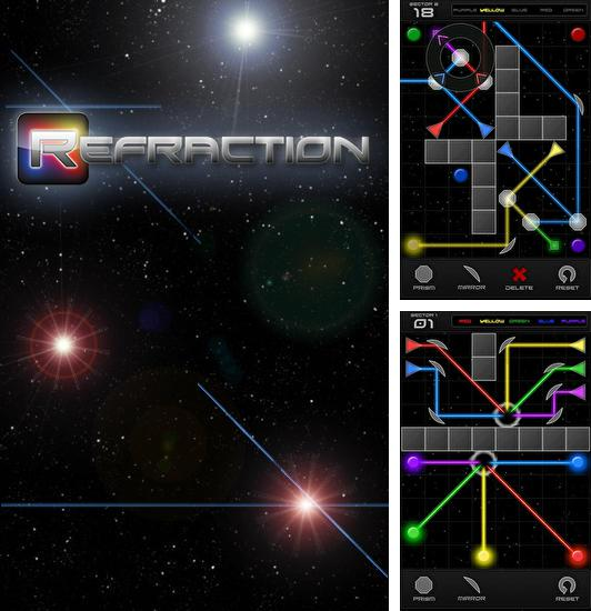 In addition to the game Glass for Android phones and tablets, you can also download Refraction for free.