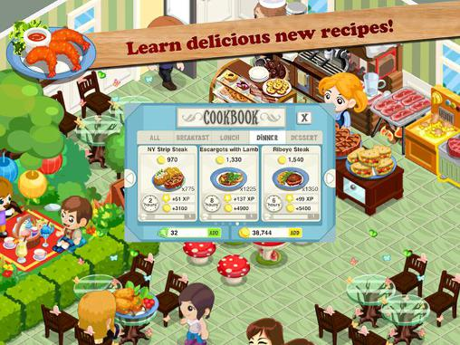 Screenshots do Restaurant story: Hot rod cafe - Perigoso para tablet e celular Android.