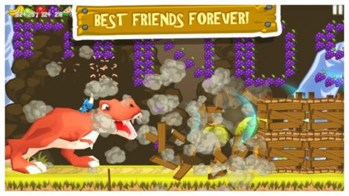 Screenshots of the Rhino rush: Stampede for Android tablet, phone.
