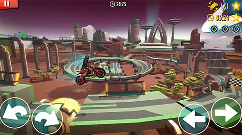 Скріншот гри Rider: Space bike racing game online на Андроїд планшет і телефон.