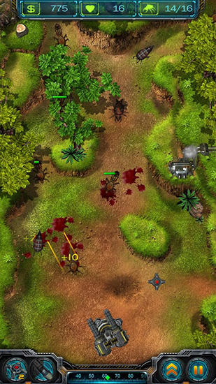 Screenshots do Rise of bugs - Perigoso para tablet e celular Android.
