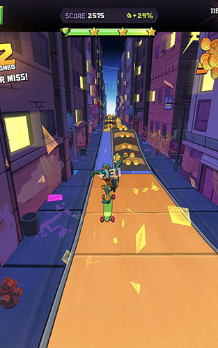 Screenshots von Rise of the TMNT: Ninja run für Android-Tablet, Smartphone.