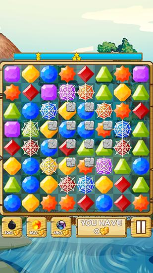 Screenshots von River jewels: Match 3 puzzle für Android-Tablet, Smartphone.