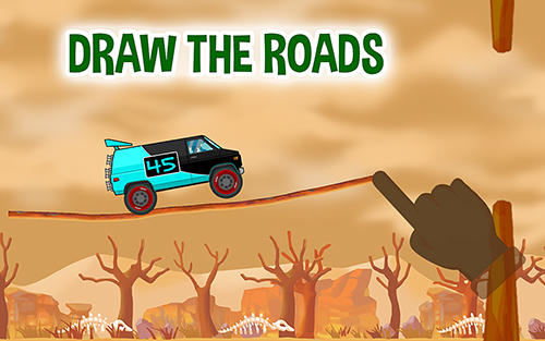 Road draw: Hill climb race poster