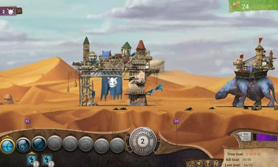 Screenshots of the Roaming Fortress for Android tablet, phone.