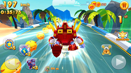 Robot rocket racer: Transformer car race скриншот 2