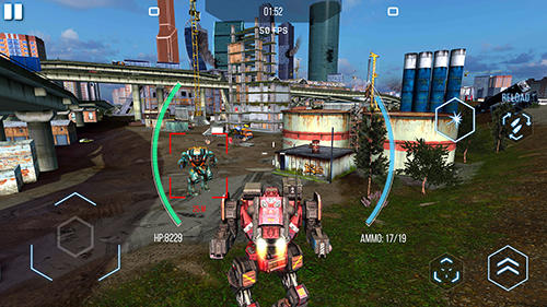 Screenshots of the Robot warfare: Battle mechs for Android tablet, phone.
