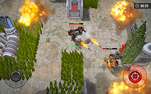Геймплей Robots battle arena: Mech shooter для Android телефону.