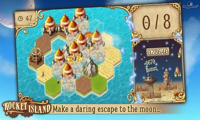 Screenshots of the Rocket Island for Android tablet, phone.