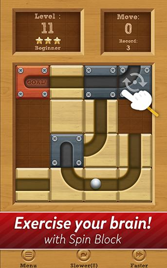 Kostenloses Android-Game Rolle den Ball: Schieb Puzzle. Vollversion der Android-apk-App Hirschjäger: Die Roll the ball: Slide puzzle für Tablets und Telefone.