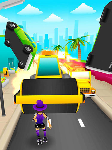Roller crash: Endless runner für Android spielen. Spiel Roller Crash: Endloser Läufer kostenloser Download.