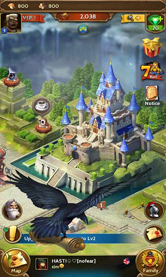 Kostenloses Android-Game Königliches Reich: Kriegsbezirk. Vollversion der Android-apk-App Hirschjäger: Die Royal empire: Realm of war für Tablets und Telefone.