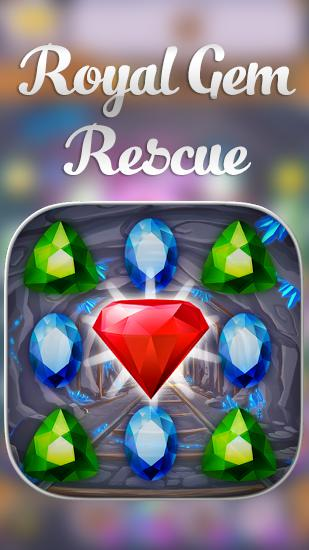 Royal gem rescue: Match 3 poster