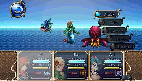 Screenshots von RPG Bonds of the skies für Android-Tablet, Smartphone.