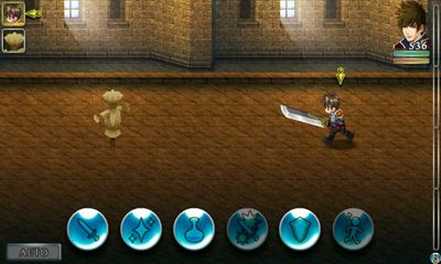 Screenshots of the RPG Symphony of the Origin for Android tablet, phone.