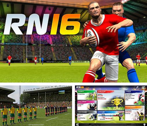In addition to the game Rugby nations 13 for Android phones and tablets, you can also download Rugby nations 16 for free.