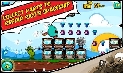 Get full version of Android apk app Running Rico Alien vs Zombies for tablet and phone.