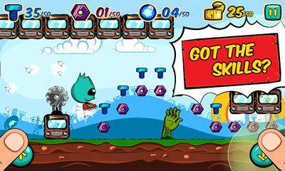 Screenshots of the Running Rico Alien vs Zombies for Android tablet, phone.
