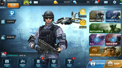 Screenshots von Rush fire: Free online shooting game für Android-Tablet, Smartphone.