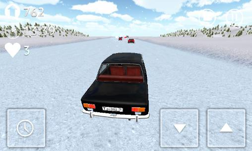 Russian snow traffic racer screenshot 4