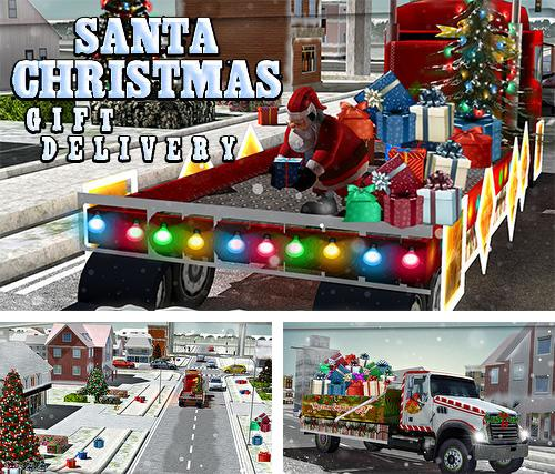 Santa Christmas gift delivery