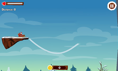 Kostenloses Android-Game Santa Zeichenfahrt: Weihnachtliches Abenteuer. Vollversion der Android-apk-App Hirschjäger: Die Santa draw ride: Christmas adventure für Tablets und Telefone.
