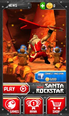 Screenshots of the Santa Rockstar for Android tablet, phone.