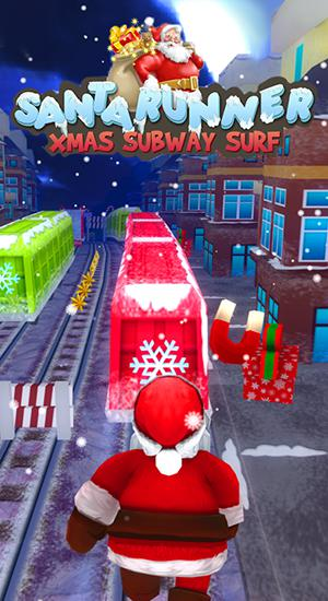 Santa runner: Xmas subway surf