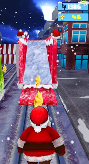 Screenshots von Santa runner: Xmas subway surf für Android-Tablet, Smartphone.