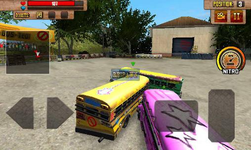 Juega a School bus: Demolition derby para Android. Descarga gratuita del juego Autobús escolar: Carreras de demolición.