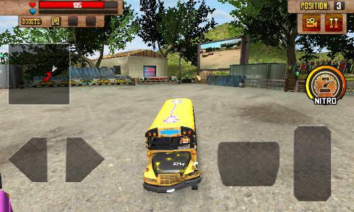 Capturas de pantalla de School bus: Demolition derby para tabletas y teléfonos Android.
