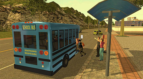Download School bus drive challenge Android free game.
