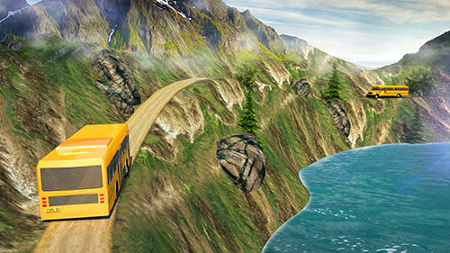 Capturas de pantalla de School bus: Up hill driving para tabletas y teléfonos Android.