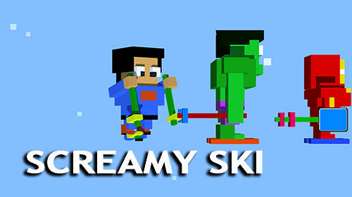 Screamy ski poster