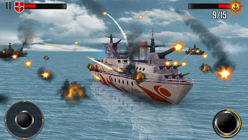 Screenshots von Sea battleship combat 3D für Android-Tablet, Smartphone.