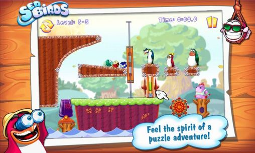 Juega a Sea birds. Happy penguins para Android. Descarga gratuita del juego Aves marinas. pingüinos felices.