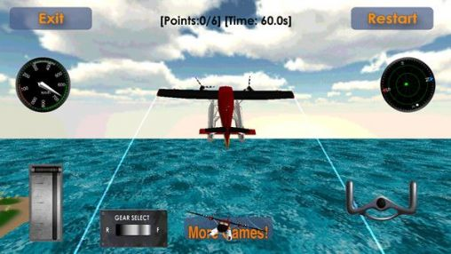 Capturas de pantalla de Sea plane: Flight simulator 3D para tabletas y teléfonos Android.