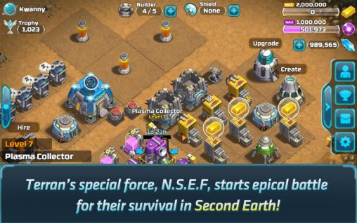 Screenshots von Second Earth für Android-Tablet, Smartphone.