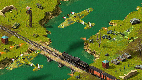 Screenshots of the Second world war: Real time strategy game! for Android tablet, phone.