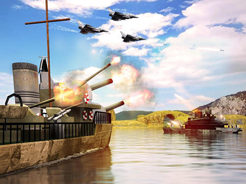 Screenshots von Secret stealth warship combat für Android-Tablet, Smartphone.