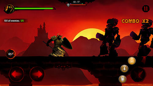 安卓平板、手机Shadow stickman: Dark rising. Ninja warriors截图。