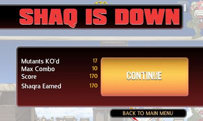 Screenshots of the ShaqDown for Android tablet, phone.