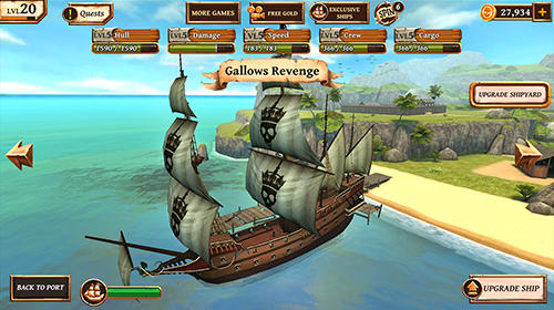 Kostenloses Android-Game Kriegsschiffe: Ära der Piraten. Vollversion der Android-apk-App Hirschjäger: Die Ships of battle: Age of pirates für Tablets und Telefone.