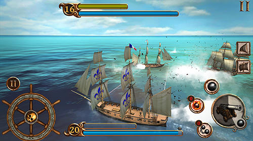 Juega a Ships of battle: Age of pirates para Android. Descarga gratuita del juego Buques de batallas: Época de piratas .
