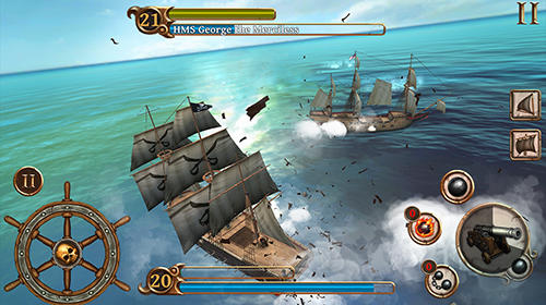 Capturas de pantalla de Ships of battle: Age of pirates para tabletas y teléfonos Android.