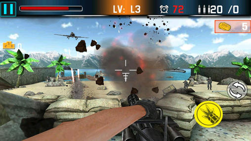 Kostenloses Android-Game Schusskrieg: Geschützfeuer Abwehr. Vollversion der Android-apk-App Hirschjäger: Die Shoot war: Gun fire defense für Tablets und Telefone.