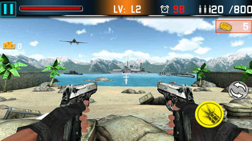 Juega a Shoot war: Gun fire defense para Android. Descarga gratuita del juego Guerra de disparos: Fuego de defensa.