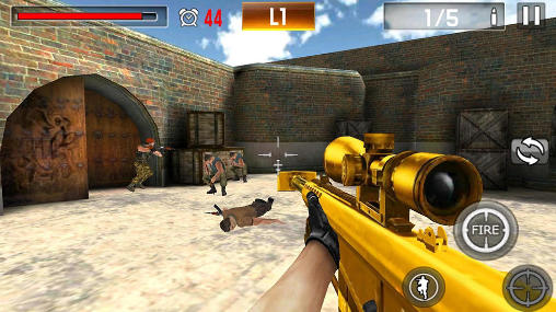 Screenshots do Shoot war: Professional striker - Perigoso para tablet e celular Android.